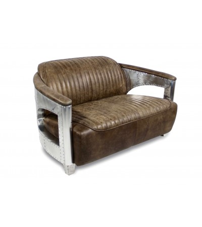 "Ledersofa ""Chuck"" Leder ""Whiskey Brown"", 2 Sitze"