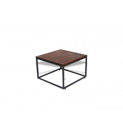 """Table basse """"Varanasi"""" bois de manguier brun et métal noir"""