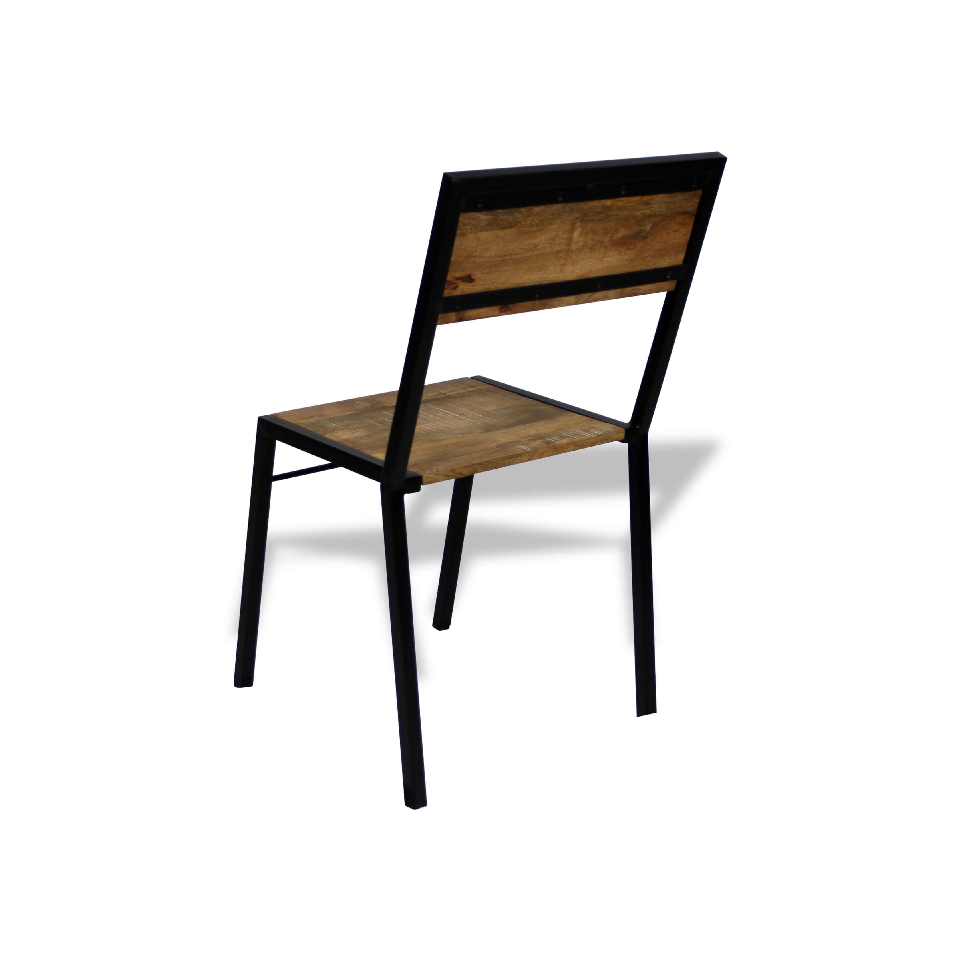 Chaise Bois Et Metal Industriel table design métal repas de patiné en bois et industriel