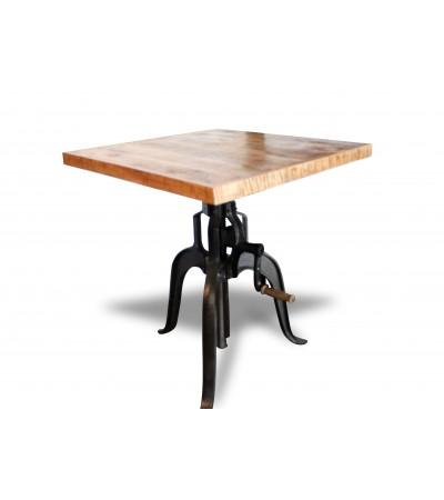 """Table Bistrot """"Aurora"""" en bois et métal style industriel"""