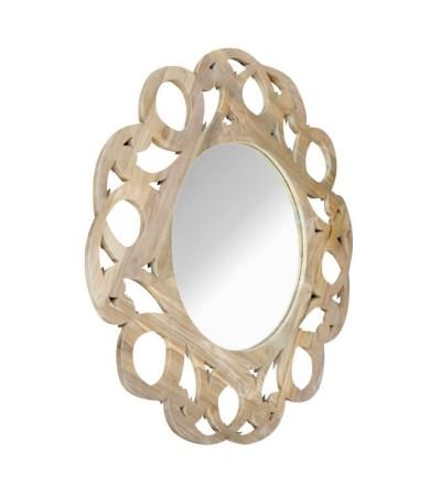 """Miroir indonésienen bois sculpté """"Mon beau Miroir"""""""