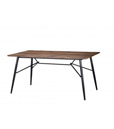 """Table de Repas """"Diana"""" en bois et métal, 160 cm"""
