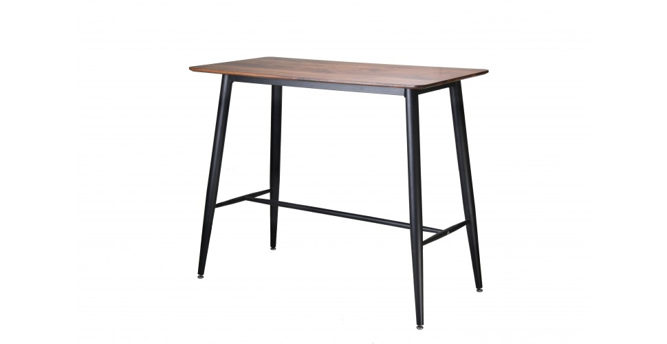 """Table haute de repas """"Kate"""" en bois et métal"""