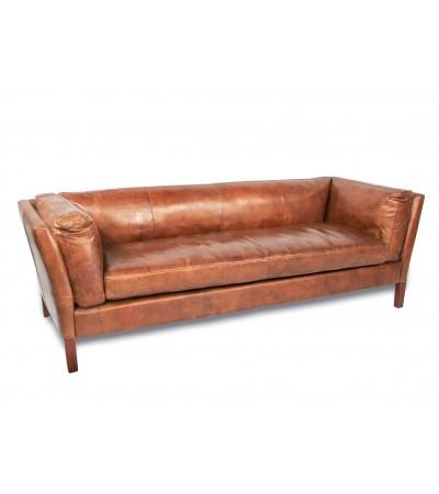 """""""Clive"""" Sofa aus hellbraunem Leder, sehr gemütlich"""
