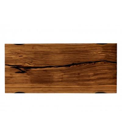 """Table à diner """"Zanzibar"""" en bois Zebra et résine noire, 207 cm"""