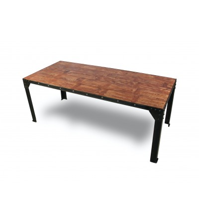 "Table de Repas ""Rivets"" 180 cm"