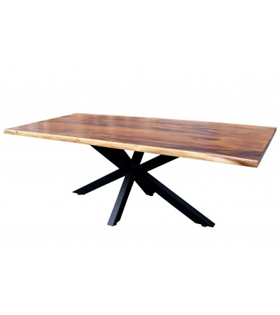 "Table ""Collapsar"" bois brut, 220 cm"