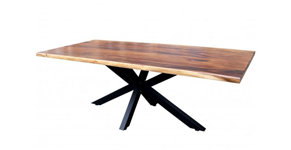 "Table ""Collapsar"" bois brut, 220 cm"