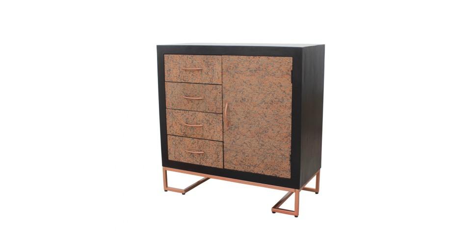 """Commode en bois et métal style vintage """"Jaïpur"""""""
