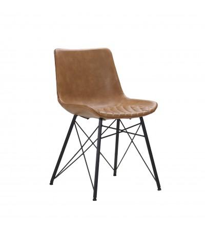 """2 Stühle aus hellbraunem Leder """"Buckingham"""""""
