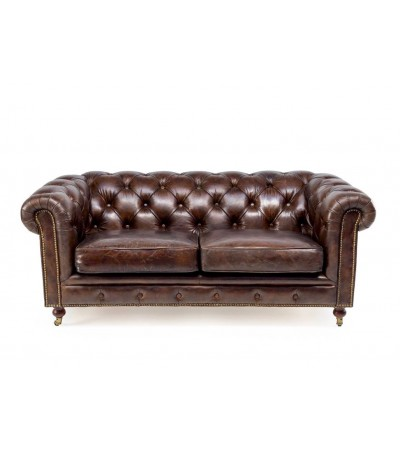 "Braun vintage Ledersofa Chesterfield 2 Sitze ""The first"""