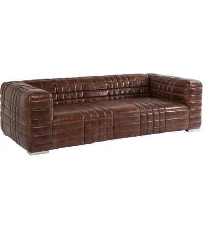 "Sofa ""Dan"" Braun Vintage Leder 3 sitzer"