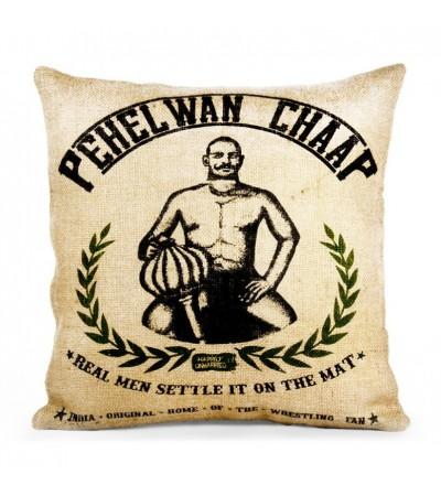 """Coussin Vintage """"Pehelwan Chaap"""""""