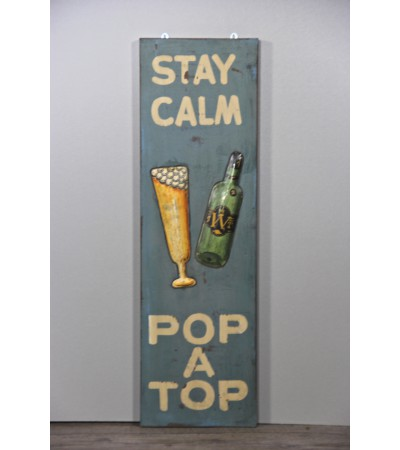 "Dekorative Malerei ""Stay Calm Pop A Top"""