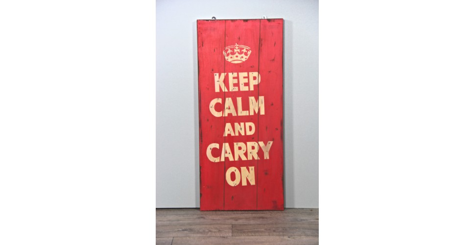 "Dekorative Malerei ""Keep Calm and Carry On"""
